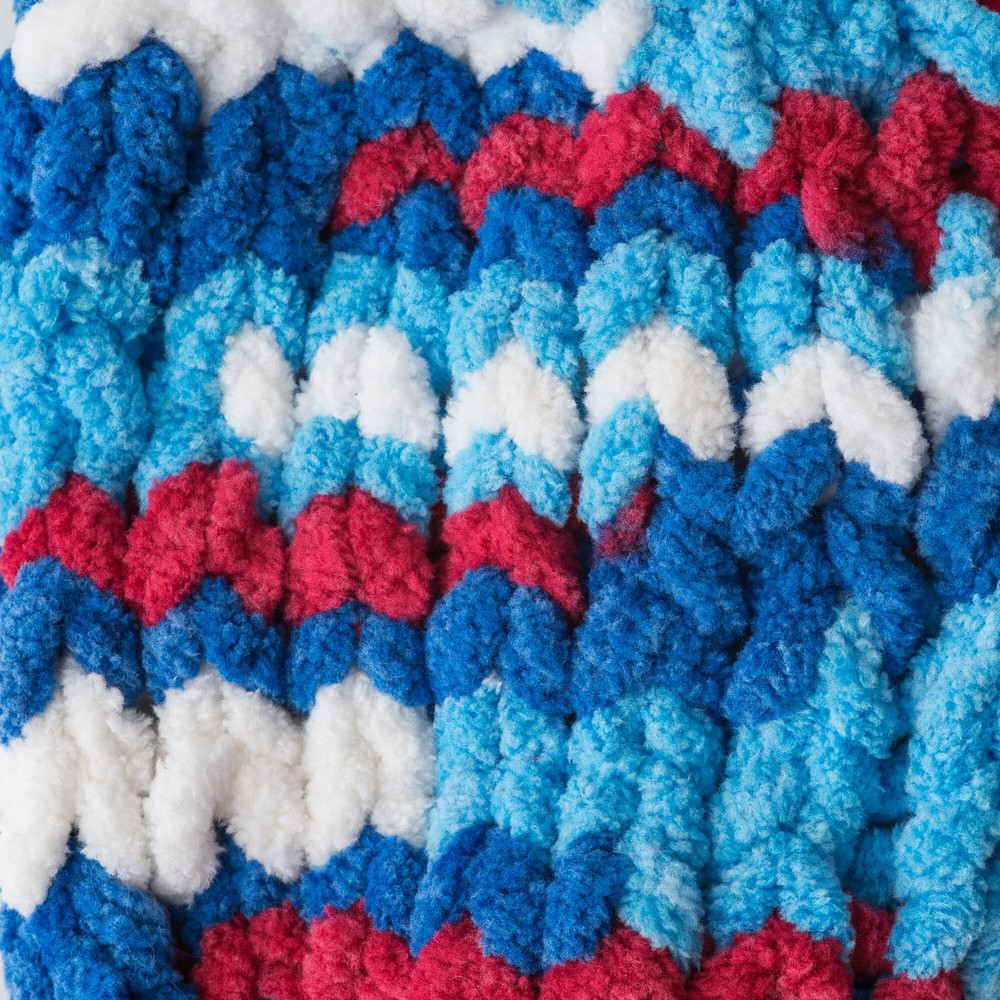 Bernat Blanket Brights 300g Red, White and Boom Varg