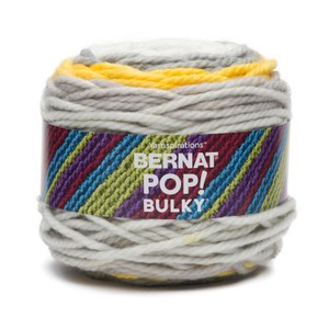 Bernat Pop! Bulky Yarn 280g Zesty Grey