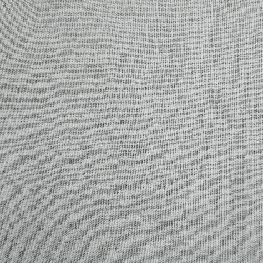 Plain Dyed Homespun 100% Cotton Silver X 1 Meter