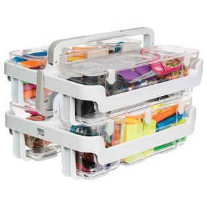 Deflecto Stackable Caddy Organiser System Duo