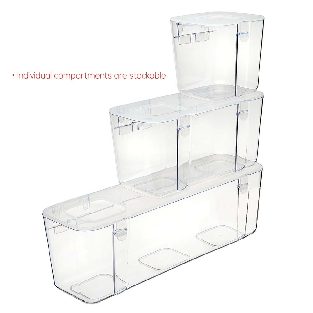 Deflecto Stackable Caddy Organiser Containers Small, Medium, Large