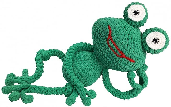 Knitty Critters Go Go Eddie the Frog Crochet Kit