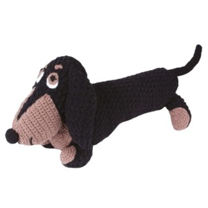 Knitty Critters Diggy Dachshund Crochet Kit