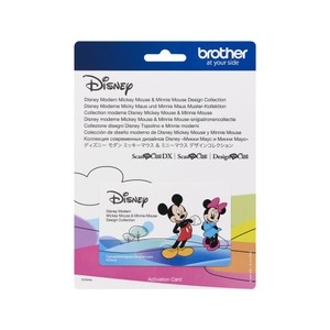Brother ScanNCut Disney Card No10 - Mickey & Minnie Design Collection X 45 Designs