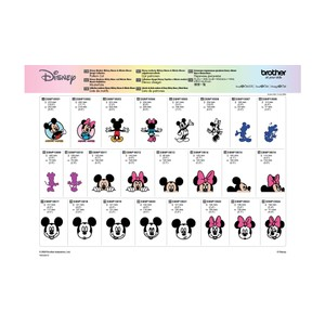 Brother ScanNCut Disney Card No10 - Mickey & Minnie Design Collection X 45 Designs