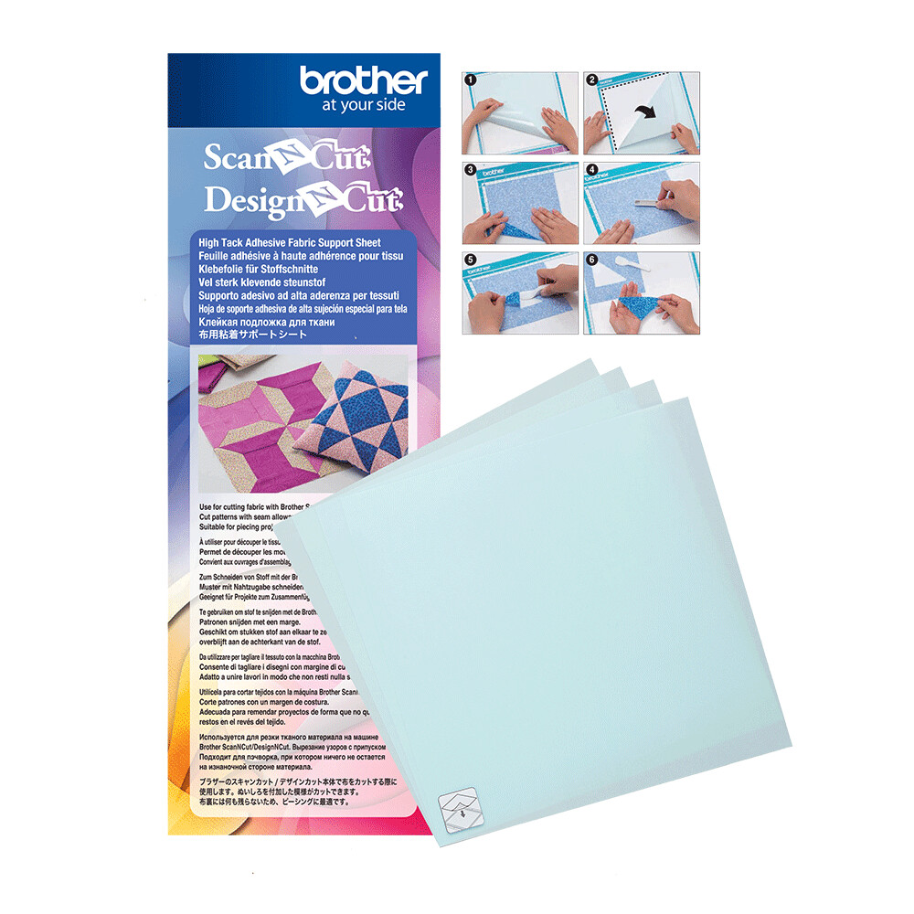 Brother ScanNCut 4 X High Tack Adhesive Fabric Support Sheets 12 X 12