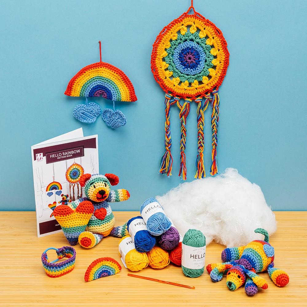 Hello Rainbow Crochet Kit - Makes 7 Projects