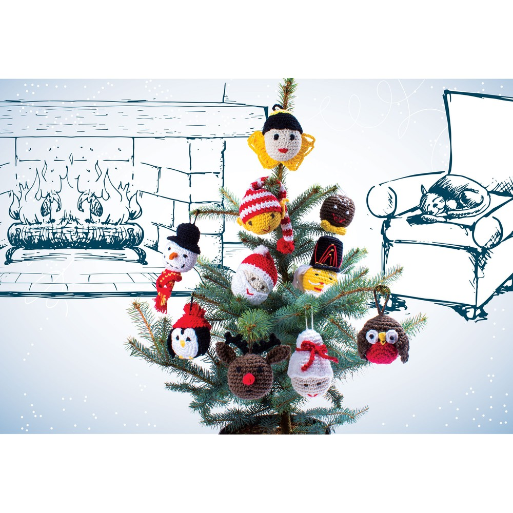 Knitty Critters Make Christmas Character Baubles