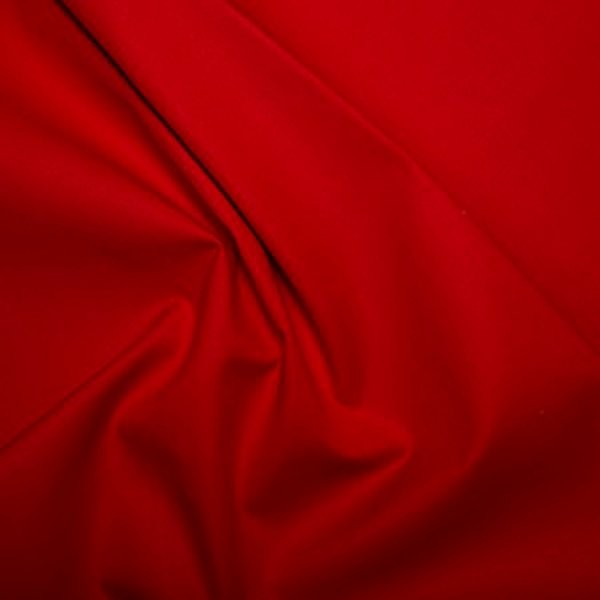 Plain Dyed Poly Cotton Red X 1 Meter