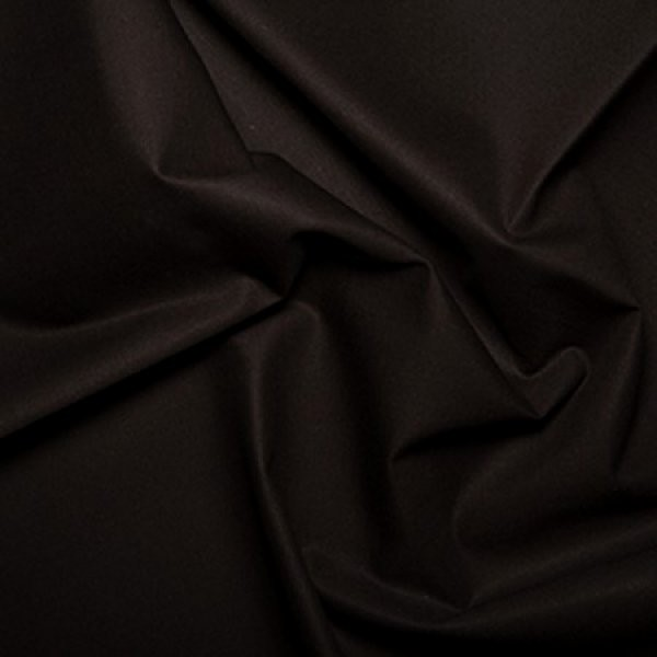 Plain Dyed Poly Cotton Black X 1 Meter