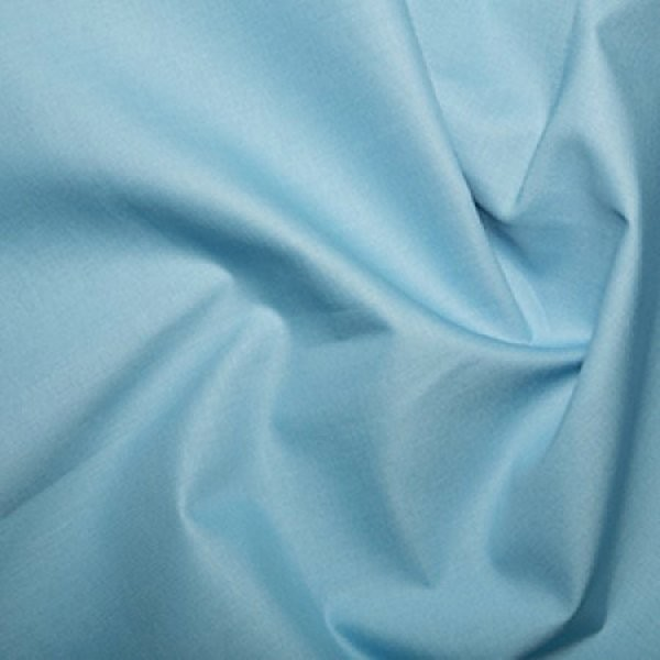 Plain Dyed Poly Cotton Pale Blue X 1 Meter