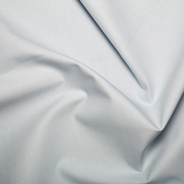 Plain Dyed Poly Cotton Silver X 1 Meter