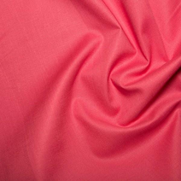 Plain Dyed Poly Cotton Cerise X 1 Meter