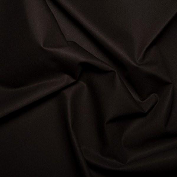 Plain Dyed Homespun 100% Cotton Black X 1 Meter