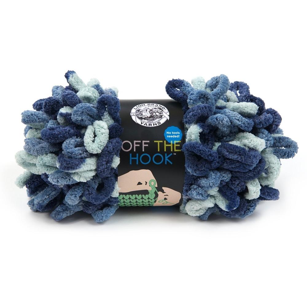 Lion Brand Off The Hook Blue Sapphire