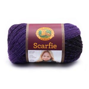 Lion Brand Scarfie Black/Purple