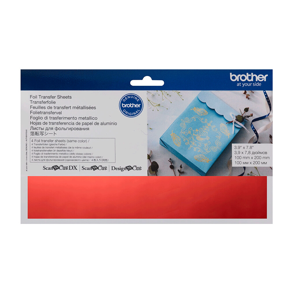 Brother ScanNCut Foil Transfer Sheets Red Red