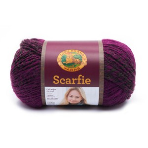 Lion Brand Scarfie Charcoal/Magenta