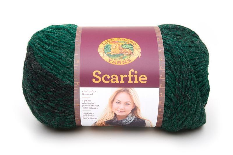 Lion Brand Scarfie Forest/Black