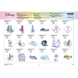 Brother ScanNCut Disney Frozen Design Collection 2 x 36 Designs