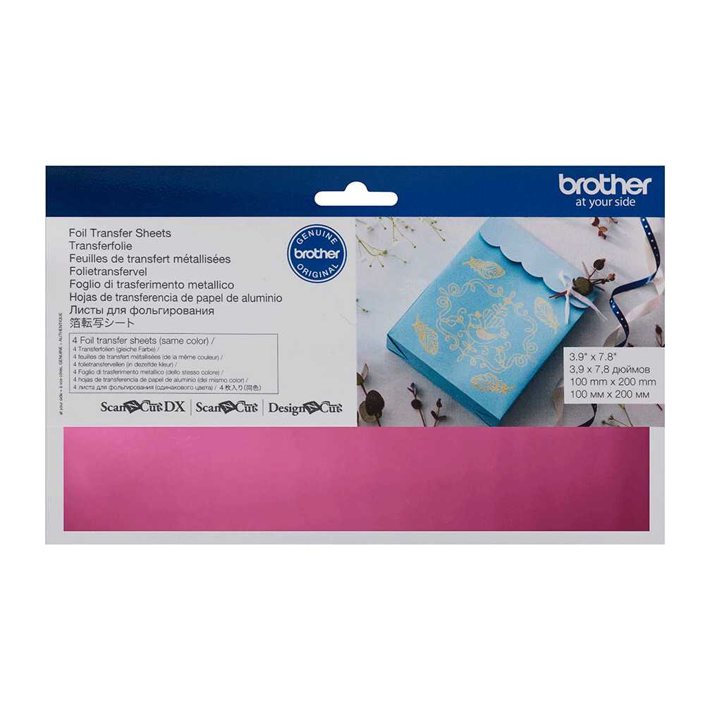 Brother ScanNCut Foil Transfer Sheets Pink Pink