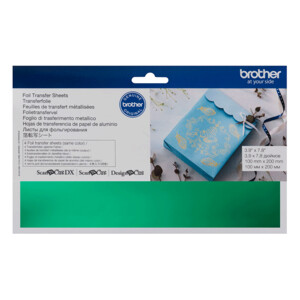 Brother ScanNCut Foil Transfer Sheets Green