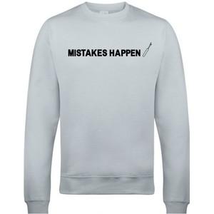 Makers Mistakes Happen Unpicker Crew Sweatshirt Grey Black