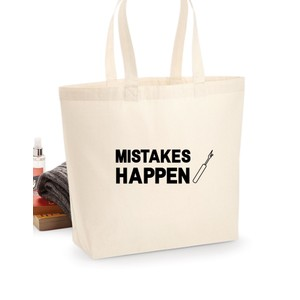 Makers Mistakes Happen Unpicker Tote Bag Black