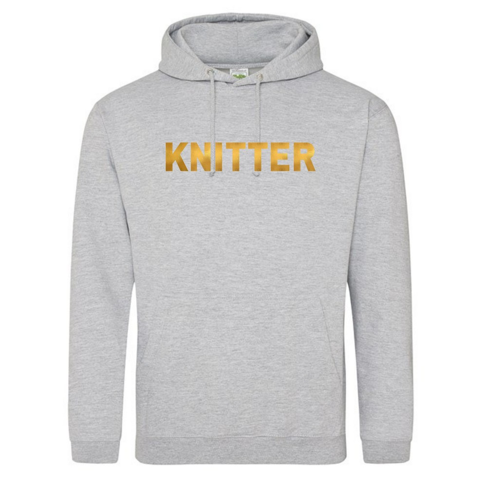 Makers Knitter Hoodie Grey Gold