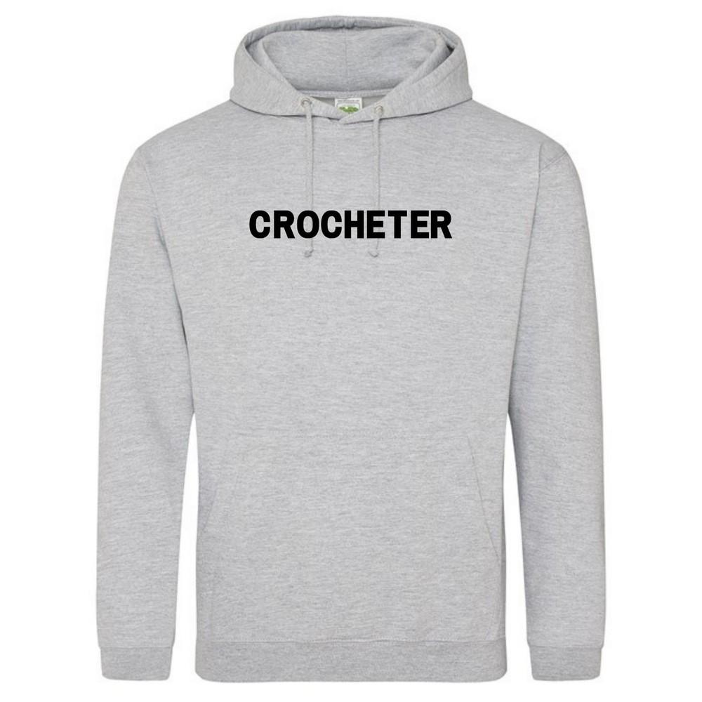 Makers Crocheter Hoodie Grey Black