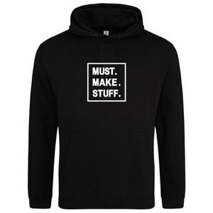Makers Must Make Stuff Hoodie Black