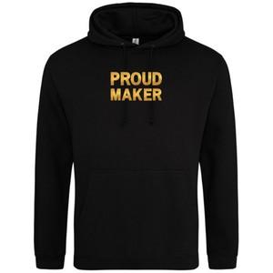 Makers Proud Maker Hoodie Black Gold