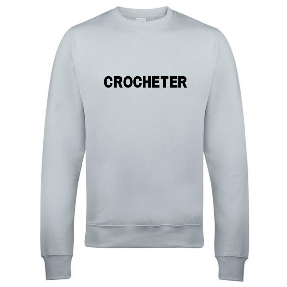 Makers Crocheter Crew Sweatshirt Grey Black