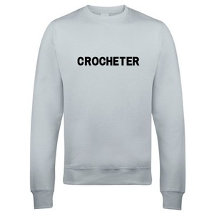 Makers Crocheter Crew Sweatshirt Grey