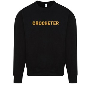 Makers Crocheter Crew Sweatshirt Black