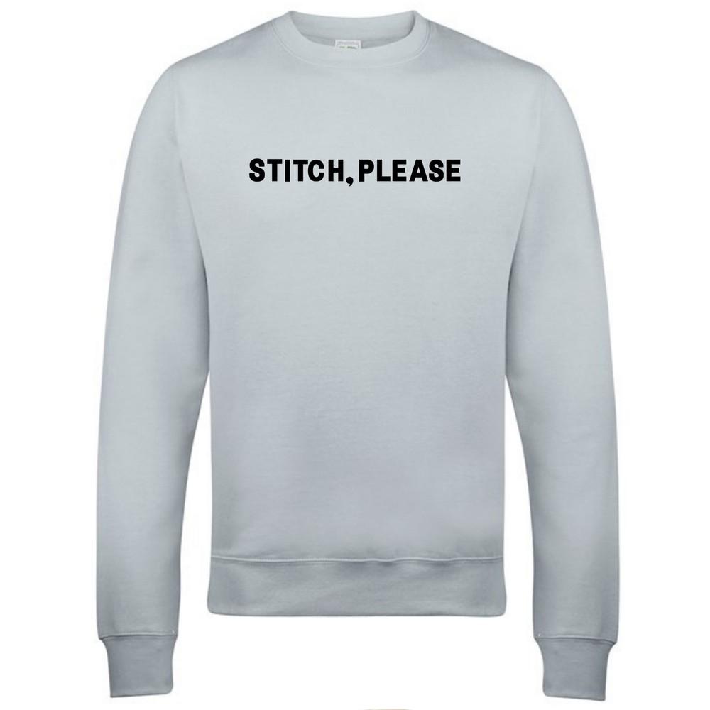Makers Stitch Please Crew Sweatshirt Grey Black