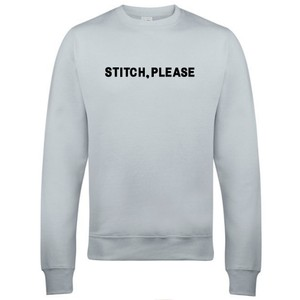 Makers Stitch Please Crew Sweatshirt Grey