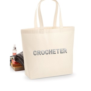 Makers Crocheter Tote Bag Silver