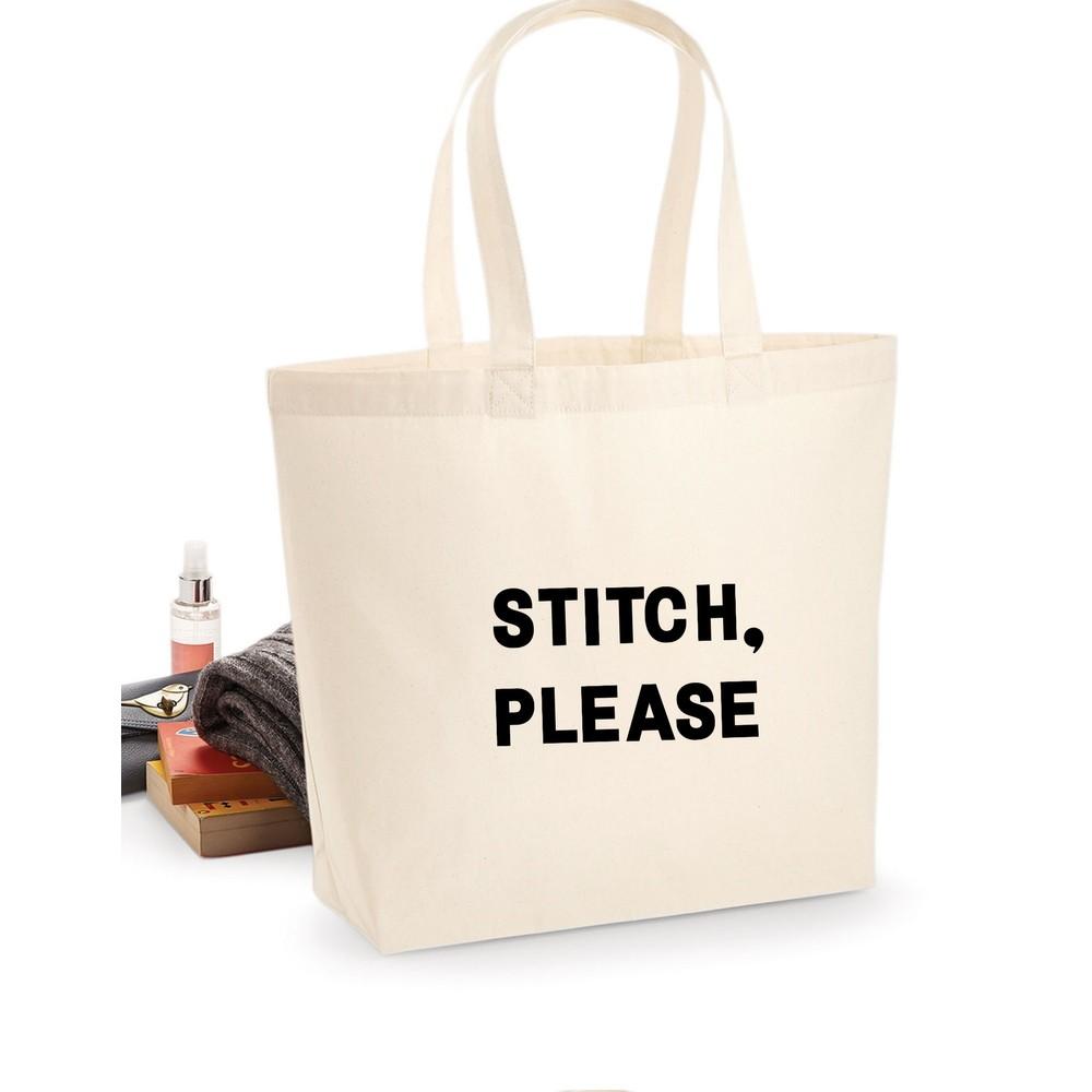 Makers Stitch Please Tote Bag Black
