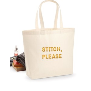 Makers Stitch Please Tote Bag Gold