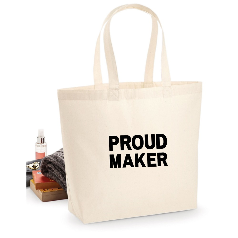Makers Proud Maker Tote Bag Black