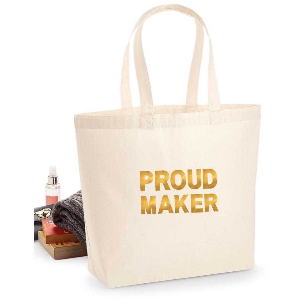 Makers Proud Maker Tote Bag Gold