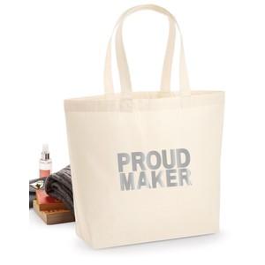 Makers Proud Maker Tote Bag Silver