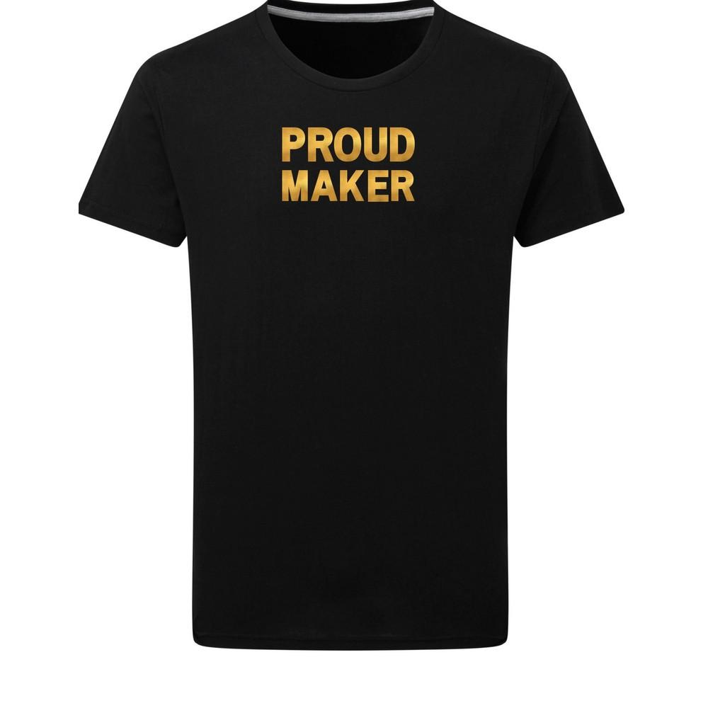 Makers Proud Maker T-Shirt Black Gold