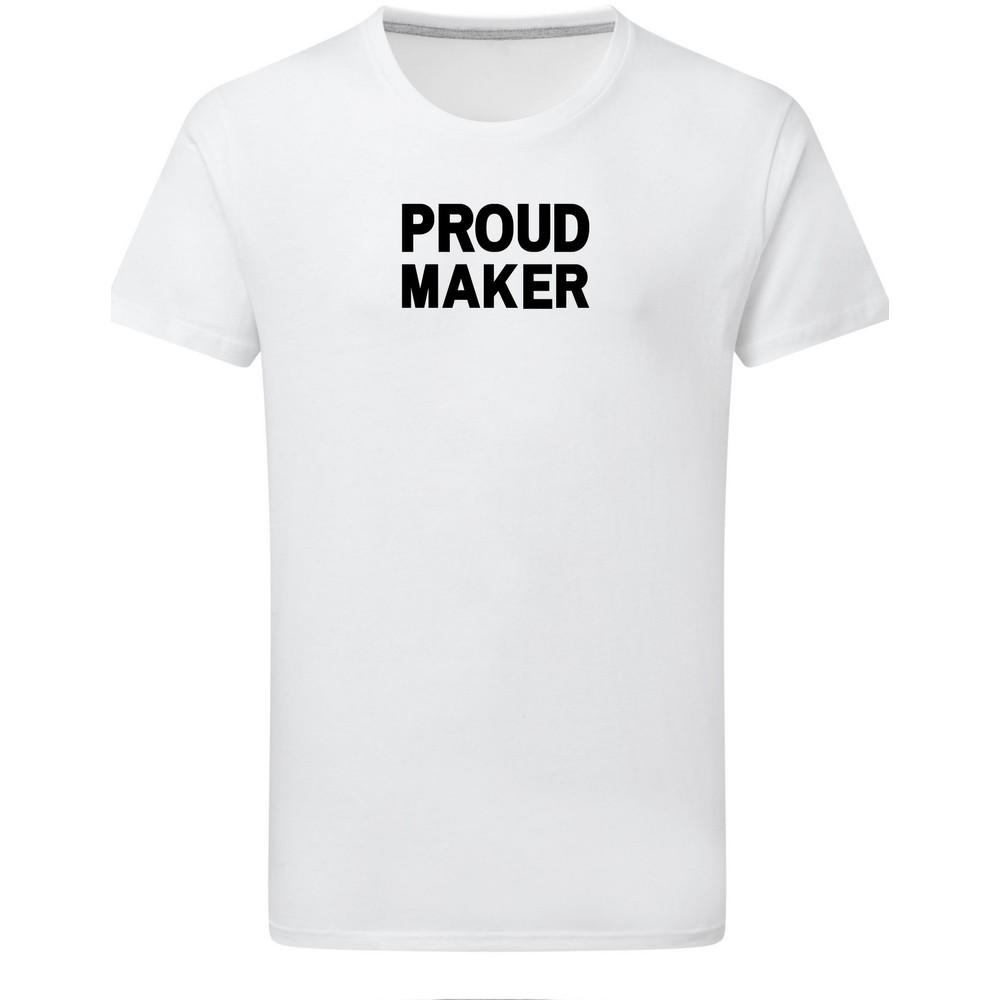 Makers Proud Maker T-Shirt White Black