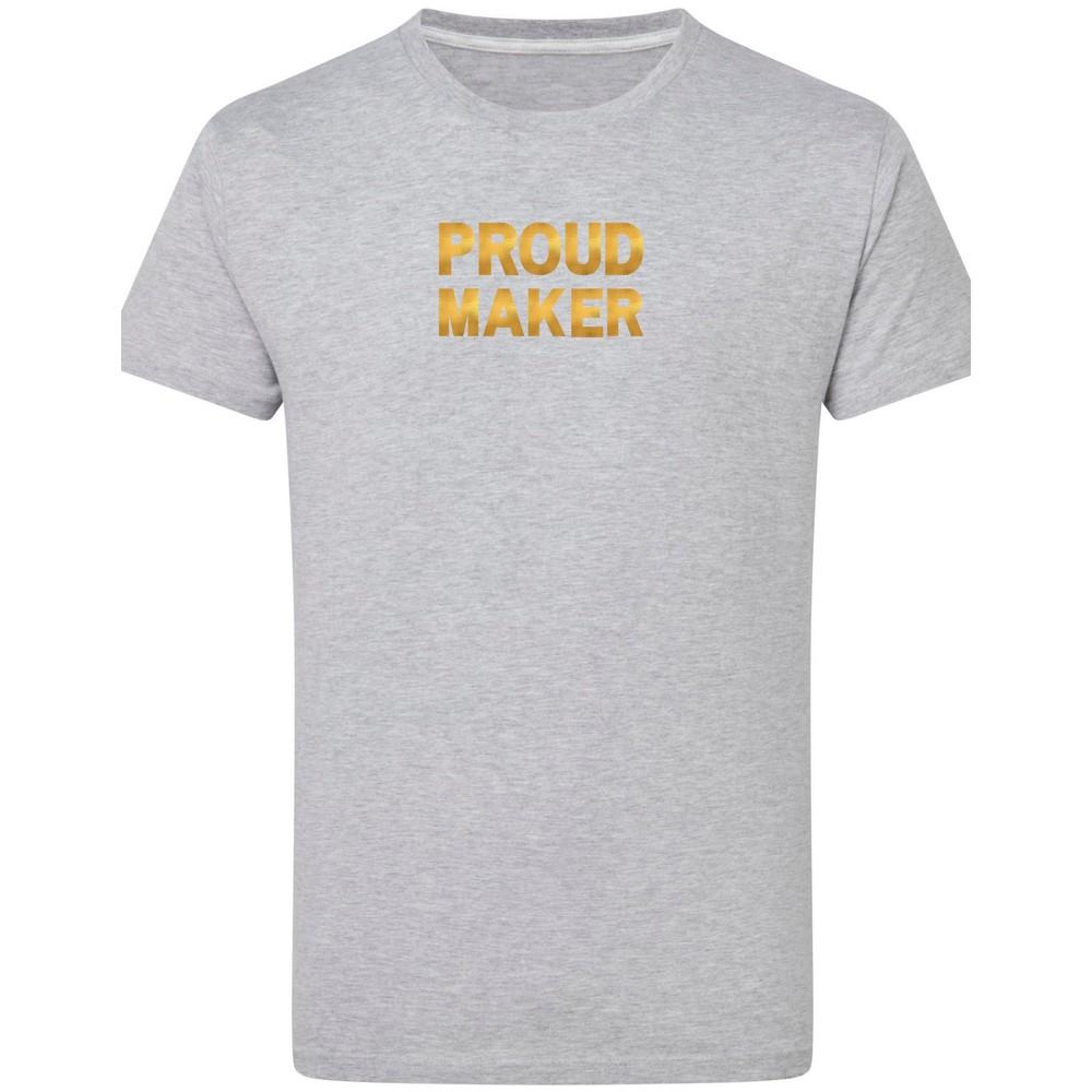 Makers Proud Maker T-Shirt Grey Gold