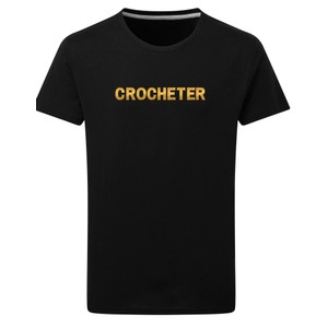 Makers Crocheter T-Shirt Black Gold