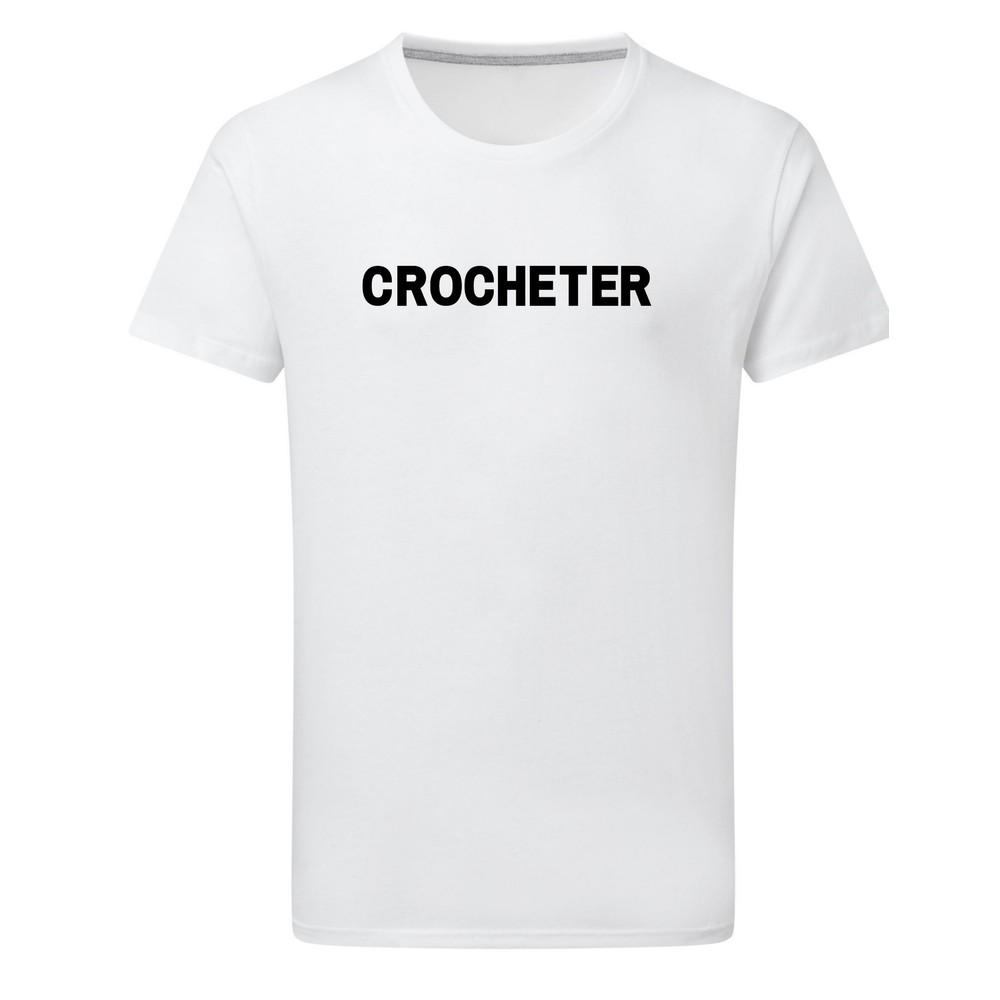 Makers Crocheter T-Shirt White Black