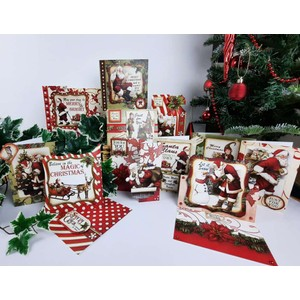 Santa Claus Christmas Cardmaking Kit - Makes 20 Cards