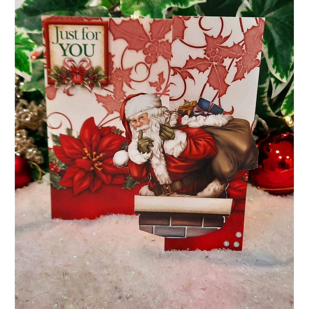 Santa Claus Christmas Cardmaking Kit - Makes 20 Cards